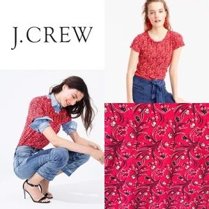 J. Crew red bandana print tee Size Medium